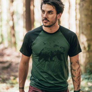 Le maillot homme en bois vert