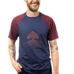 Le maillot en bois bleu/bordeaux