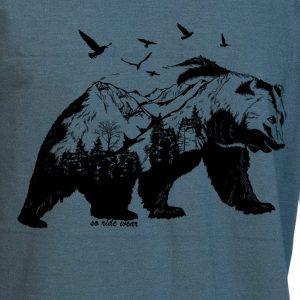 Le maillot en bois vert/noir – L, Ours