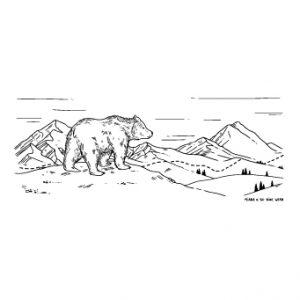 La carte ours par Lauriane Miara