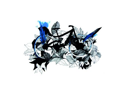 velo-feuilles-illustration-carterie-soridewear-13x18